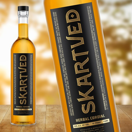 Label design for Skartved brand