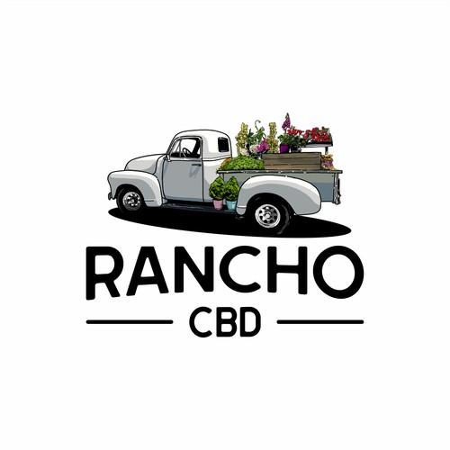 Vintage logo Rancho CBD