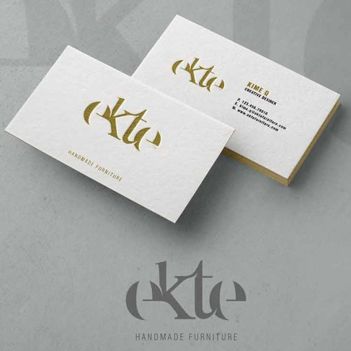 Ekte 'handmade furniture' Logo and visual profile