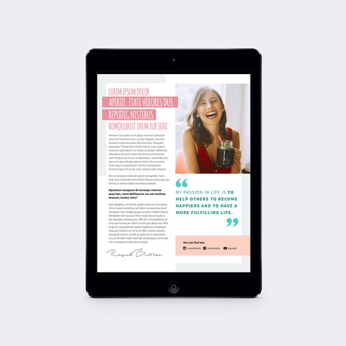 Project Lean and Toned ebook template