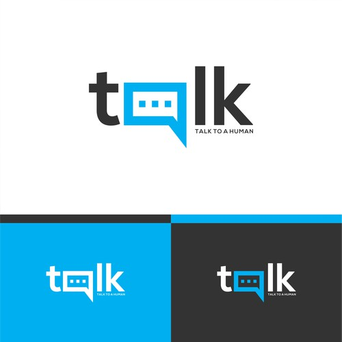 Simple Powerful Beautiful Logo - TalkToaHuman.com