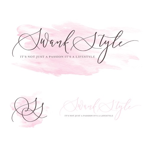 Sweet, elegant, and feminine logo concept for a makeup artist