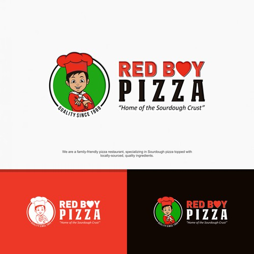New Logo Design for 50-year-old California-Italian Sourdough Pizza Place!