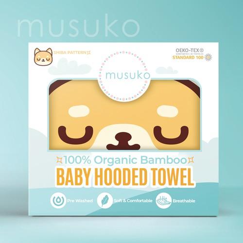 Baby Hooded Towel Packaging Design