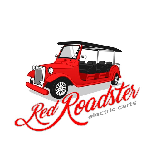 Red Roadster Electric Carts