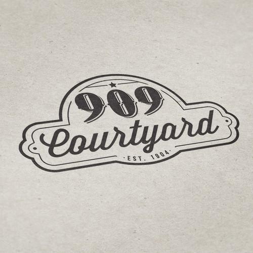 909 Courtyard Logo Design | Event Space
