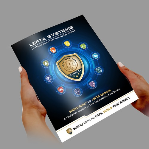 Design Brochure For Software Company - Law Enforcement Niche