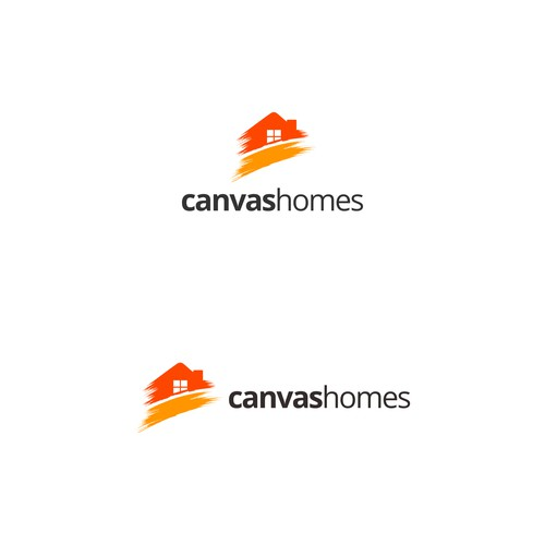 Creative logo Real Estate company Canvas Homes