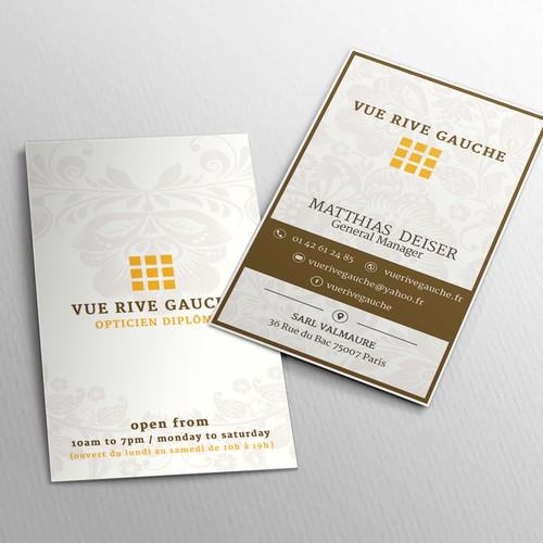 ornament shop business card
