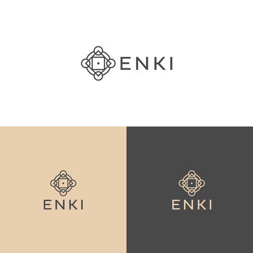 Symbol-like logo for Enki Organics