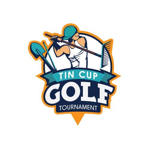 Logo for golf tournament