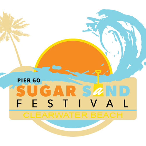 Beach T-shirt Design for Pier 60 Sugar Sand Festival