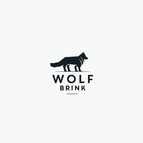 Geometric Wolf Character Logo For Wolf Brink