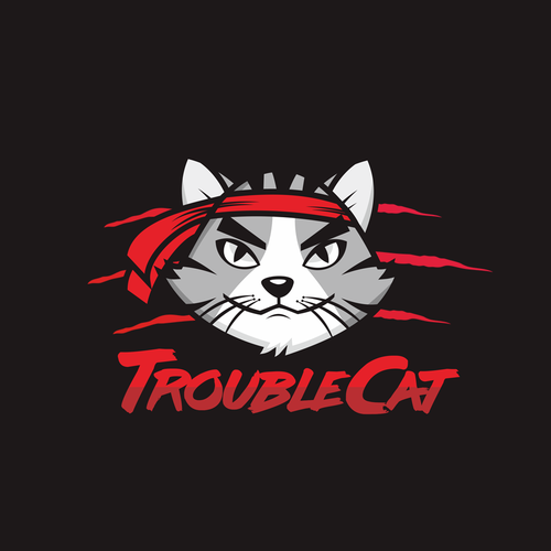 TroubleCat logo design