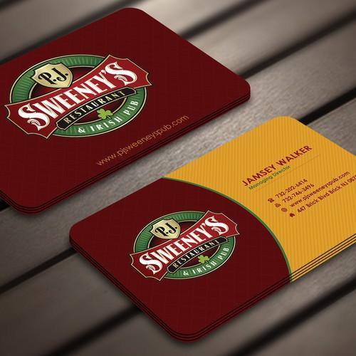 Irish Pub Business Card Design