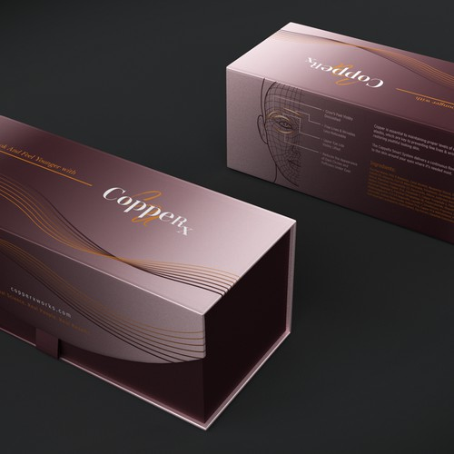 The packaging for a new skin care line