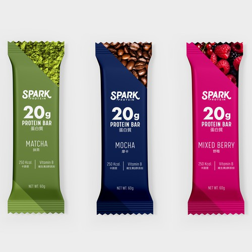 Protein bars packaging design