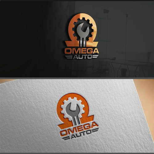 Omega Auto - Friendly neighborhood mechanic needs clean, modern logo!