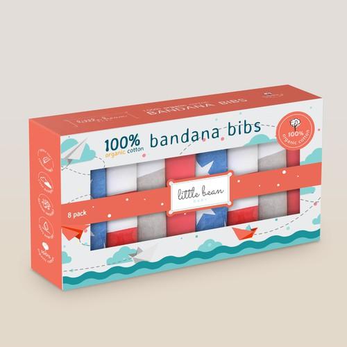 Little Bean Baby - Organic Bandana Bibs