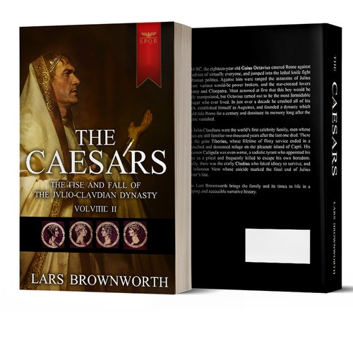 Cover for historical book about Julius Caesar's dynasy