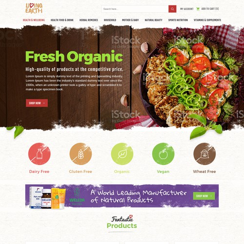 Living Earth New e-commerce website