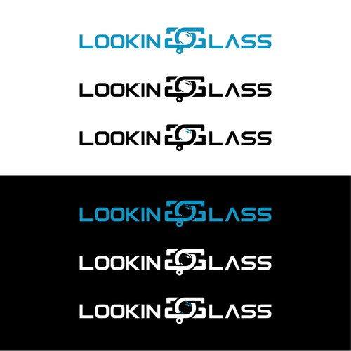 "Bold Logo for ""THE LOOKING GLASS"""
