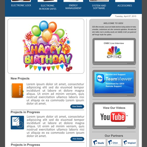 Create a fun, informative and team building newsletter for our company.