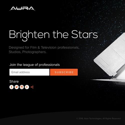 Landing Page design concept for AURA