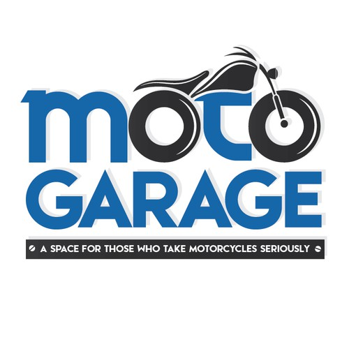 Create a motorcycle camaraderie logo for MotoGarage