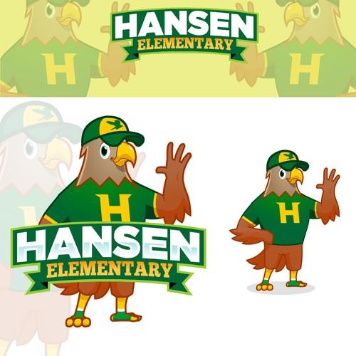 Eagle school mascot