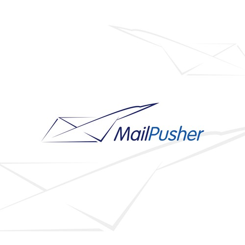 Create a modern and fun logo for MailPusher