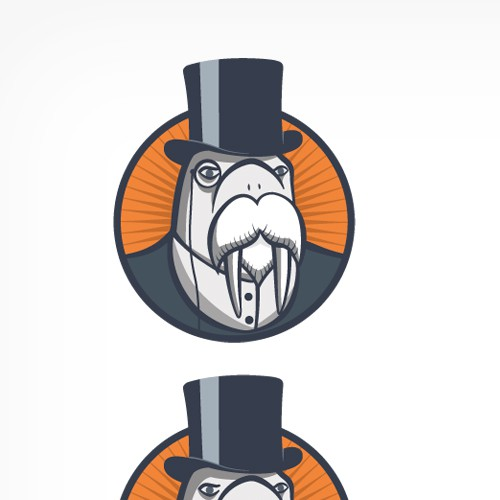 Create the next logo for Well Dressed Walrus