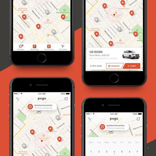 Clean, Simple, Friendly - Vehicle Sharing App