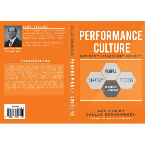 Create the next book or magazine cover for Performance Culture