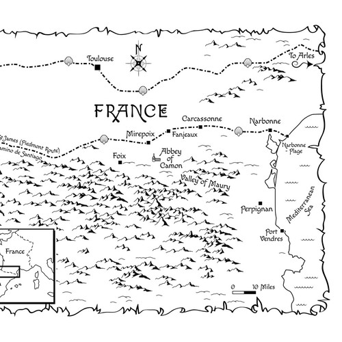 Map for fictional history novel