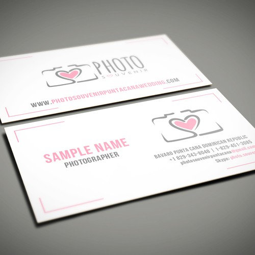 Wedding photography striking business card needed