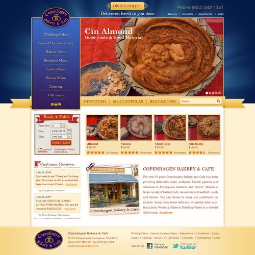 website design for Copenhagen Bakery