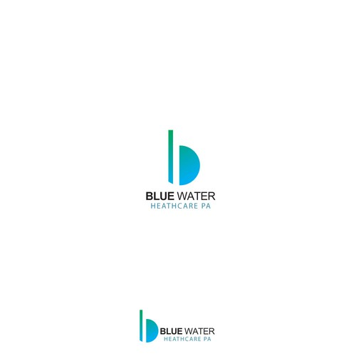 logo for blue water
