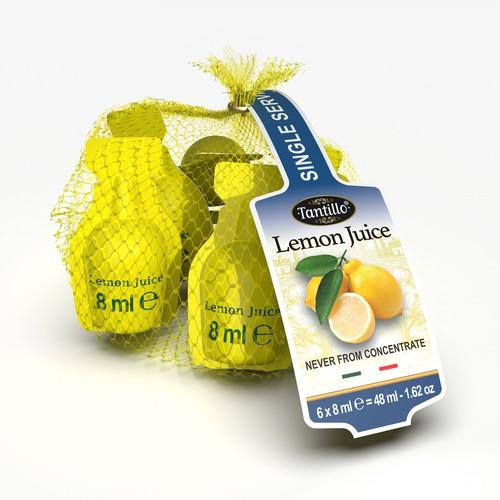 3D rendering view for Lemon Juice Dosette Pack