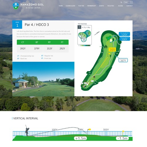 Redesign a golf course website giving it a fresh new look