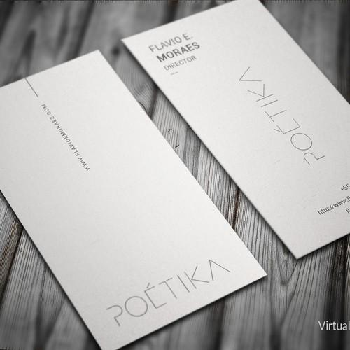 Modern Business Card Design for POETIKA