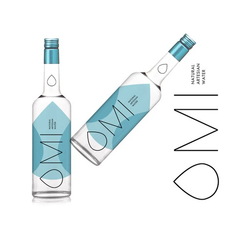 OMI Water Logo and Label Design