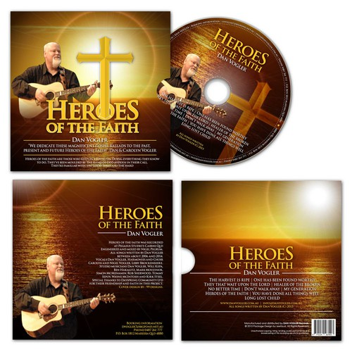 Packaging CD Heroes of The Faith