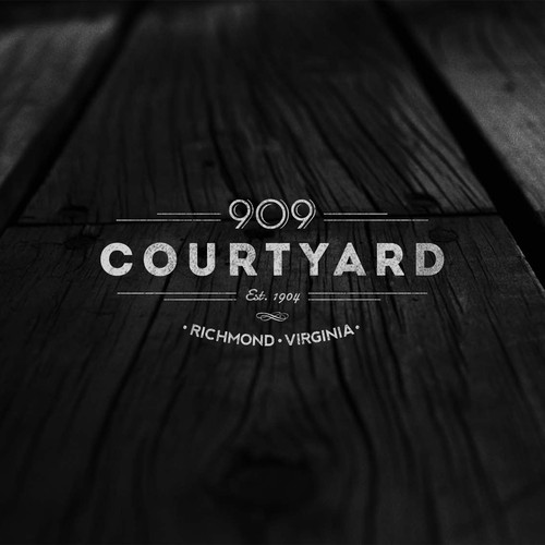 909 Courtyard Logo Design | Event Space