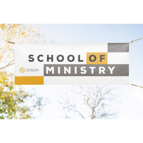 Banner design for School of Ministry