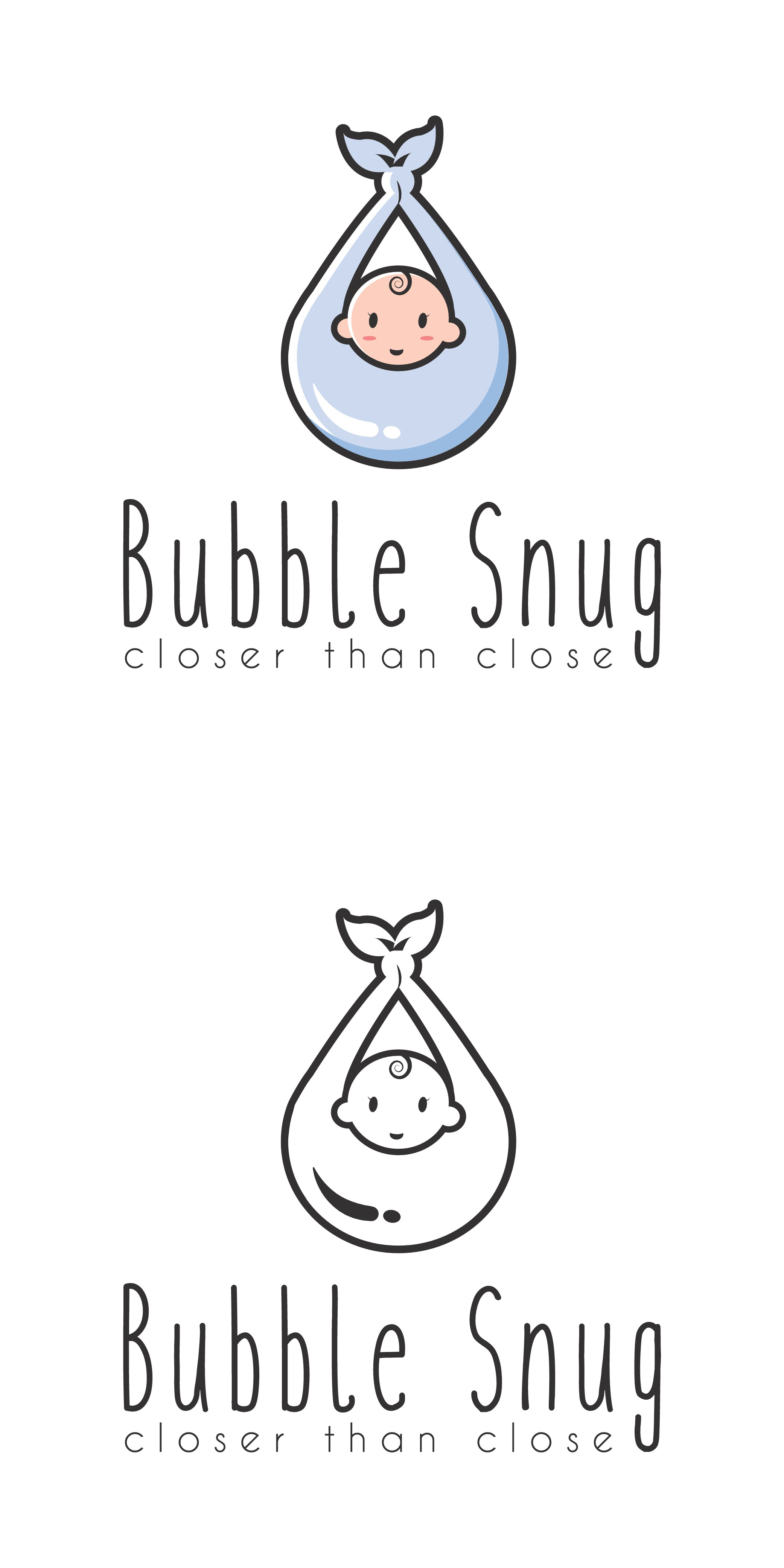 "Need a logo for the company ""Bubble Snug"" baby slings.  tag: Closer than close.  Imagery a plus."