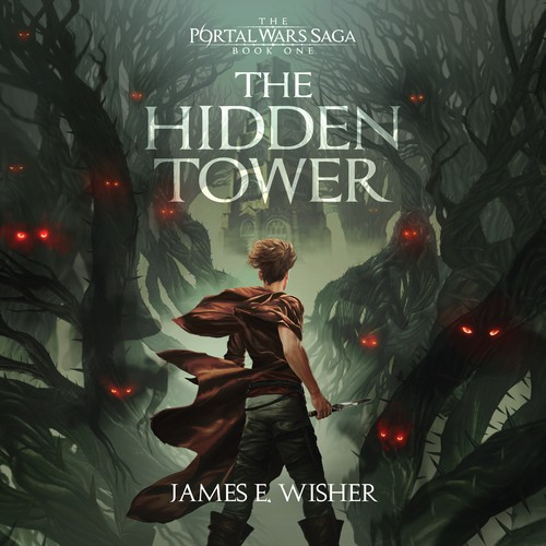 Cover Illustration and Design for The Hidden Tower (James E. Wisher)