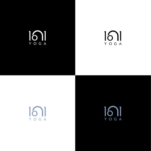 Finalist logo concept for '1 on 1 Yoga'