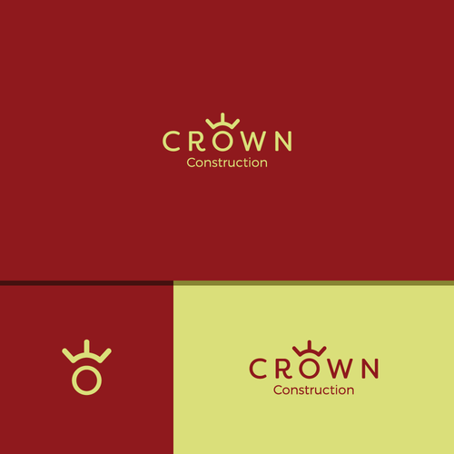 Minimalist design for a construction company