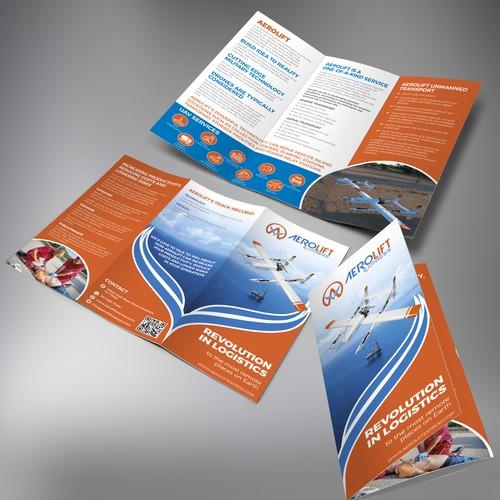 Tri-fold Brochure for a Aerolift